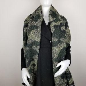 Bebe Camouflage Blanket Scarf NWT